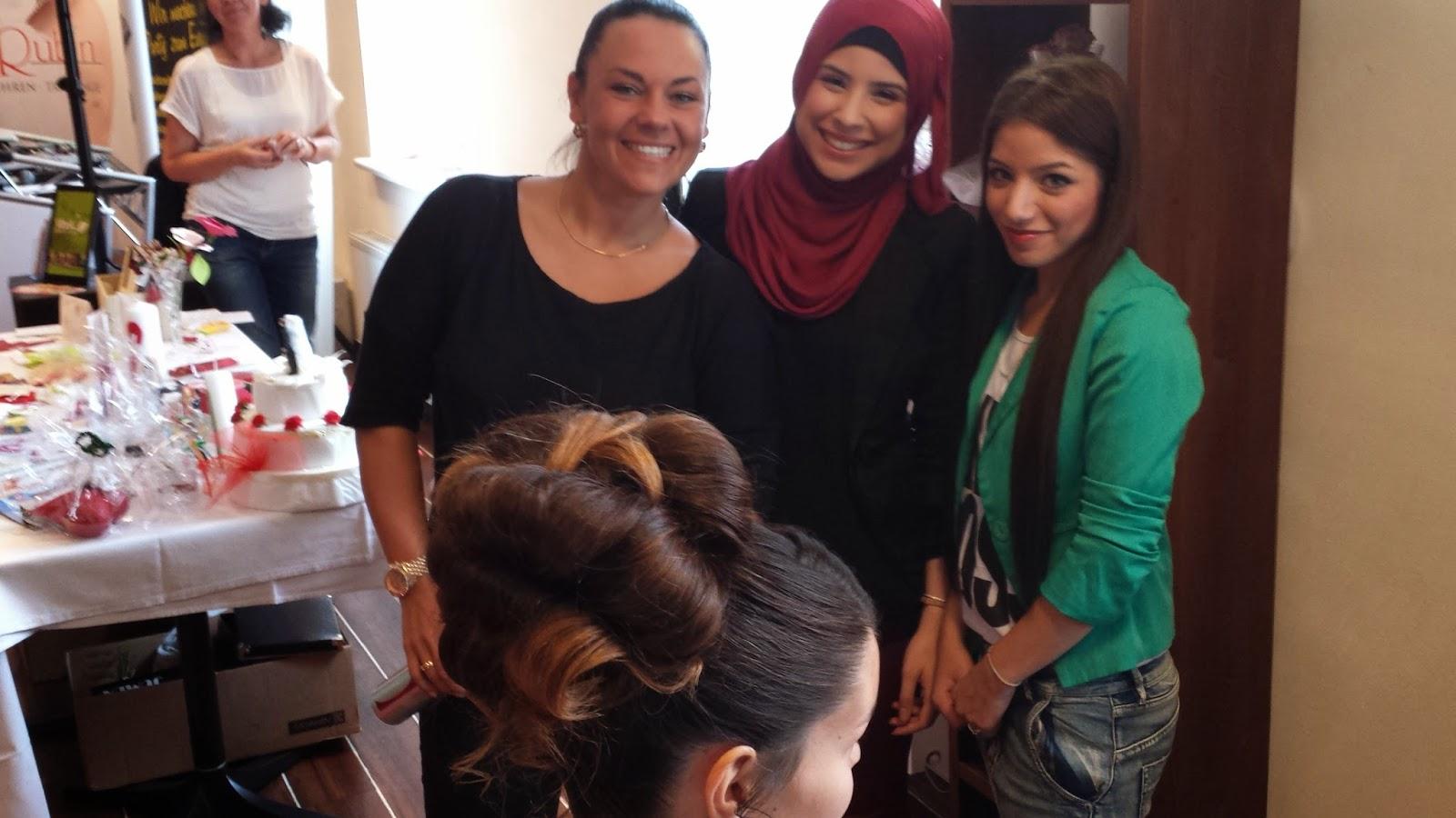 v. li. Marina, Lamia und Amani