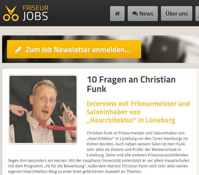 Friseur - Job 10 Fragen