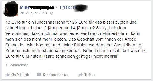 Haarchitektur-Lüneburg-Facebook-Kommentar Klier