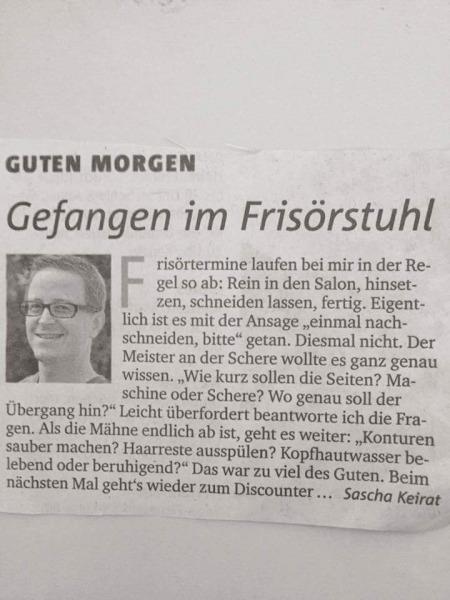 Haarchitektur-Lüneburg- Zeitungsartikel über zu viel Service