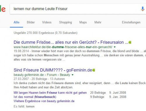 Best of Friseur-Google-Suchbegriffe 2016