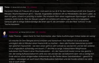 Friseursalon - Haarchitektur - Lueneburg - Kommentar