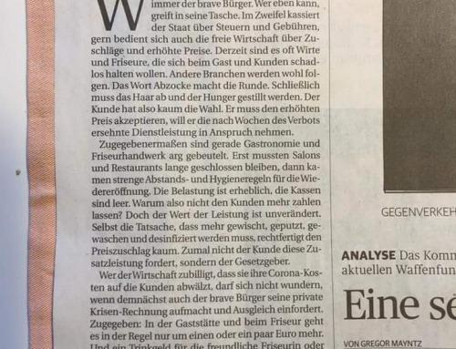 Rheinische Post – stellvertr. Chefredakteur beschimpft Gastronomen und Friseure als unsolidarische Abzocker!